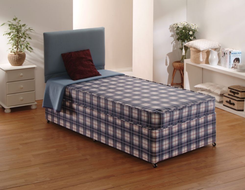 Economy mattress Three quarter divan bed