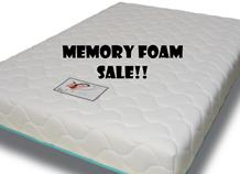 CLEARANCE MEMORY FOAM MATTRESSES