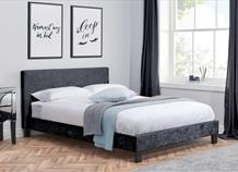 Berlin Faux Leather/Fabric Bed Frame