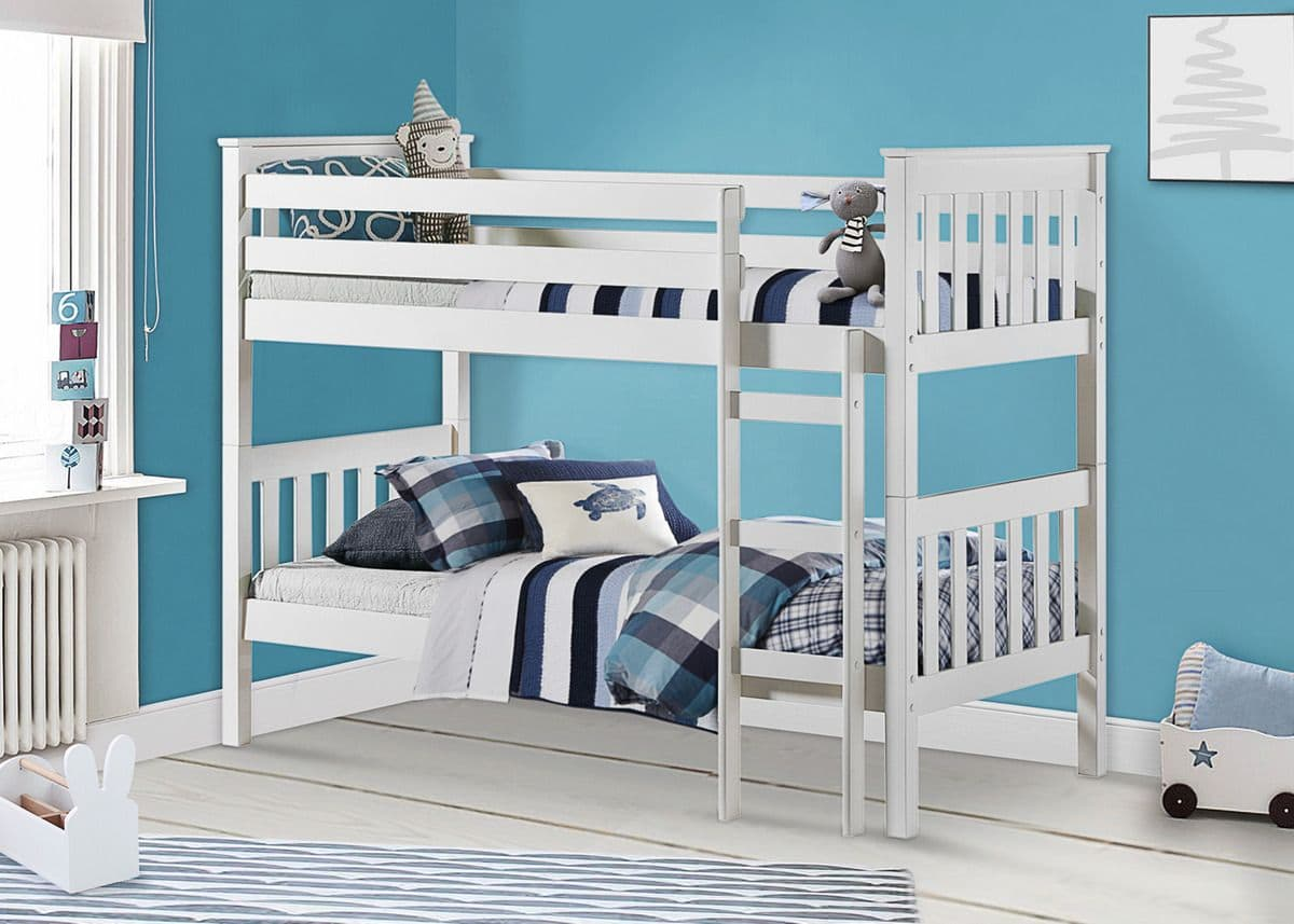 Portland Bunk Bed White Pine Staddons Beds
