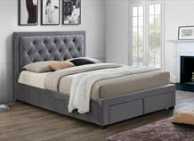 Woodbury 4 Drawer Bed Frame - Grey Velvet