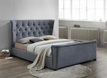 Barkley Grey Velvet Bed Frame