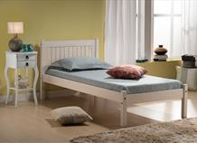 * SPECIAL OFFER * Single White Rio Bed Frame