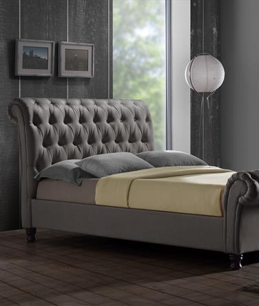 Castello Stylish Buttoned Bed Frame