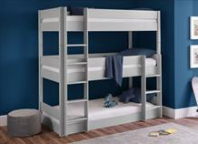 Trio Bunk Bed (Grey & White)