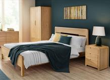 Curve Solid Wooden Bed Frame